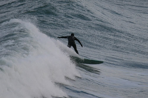 Unknown surfer, Newquay Bay, Dec 2008