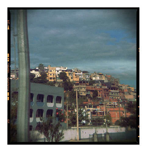 Passing favelas in Brazil, 2007