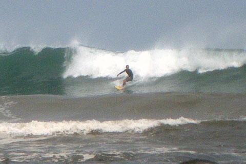 Surfing at Itamambuca, Sao Paulo State, Brazil