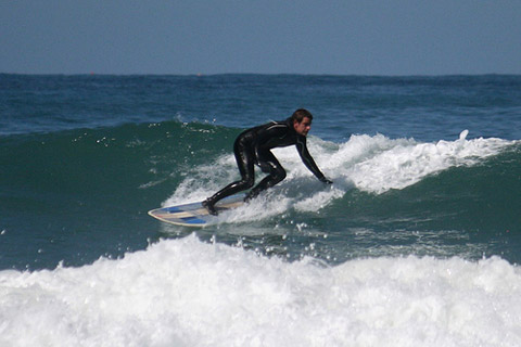 Me surfing Fistral on the 8'2