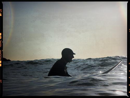 Jimbo out back at Fistral beach