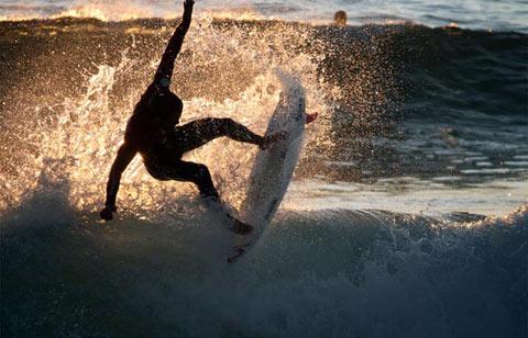 Backlit Surfer, Praia da Consolacao, Peniche, Portugal
