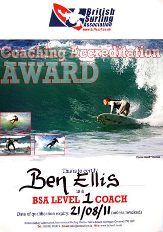 BSA certificate
