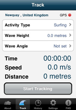 Track wave screen