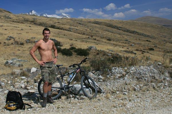 Ben mountain biking in Huaraz