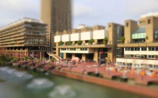 Barbican, London tilt-shift video cover