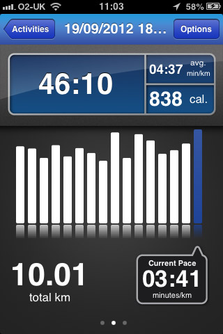 Runkeeper 10k practice run