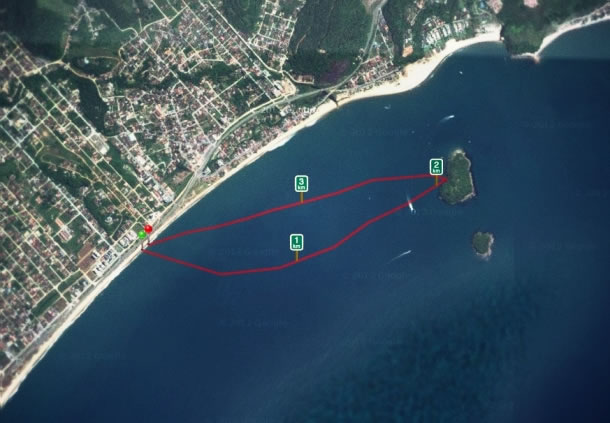 massaguacu ilhote da cocanha sup route