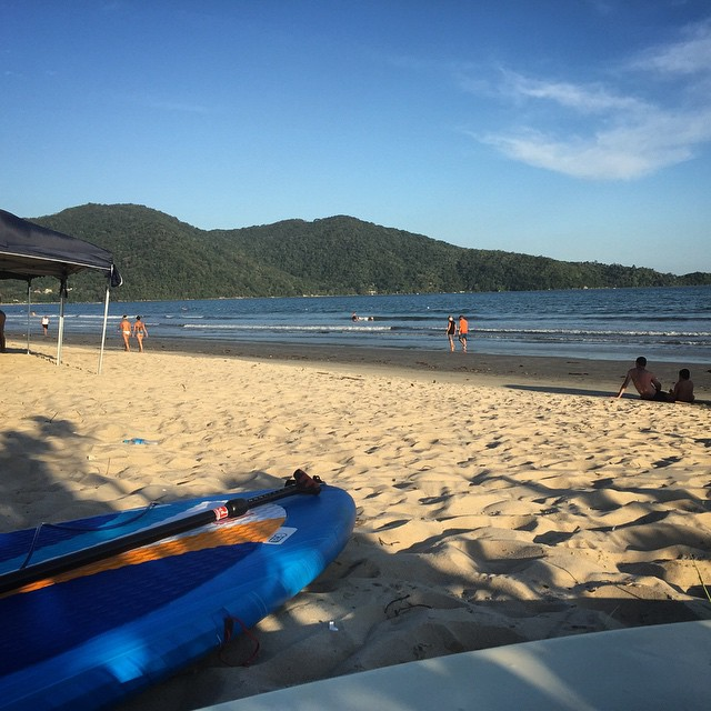 No waves but paddled out around the islands at lagoinha at sunset. Next time need to get out the go pro!