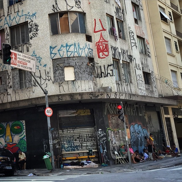 Edgy neighbourhood in the old centre of São Paulo
