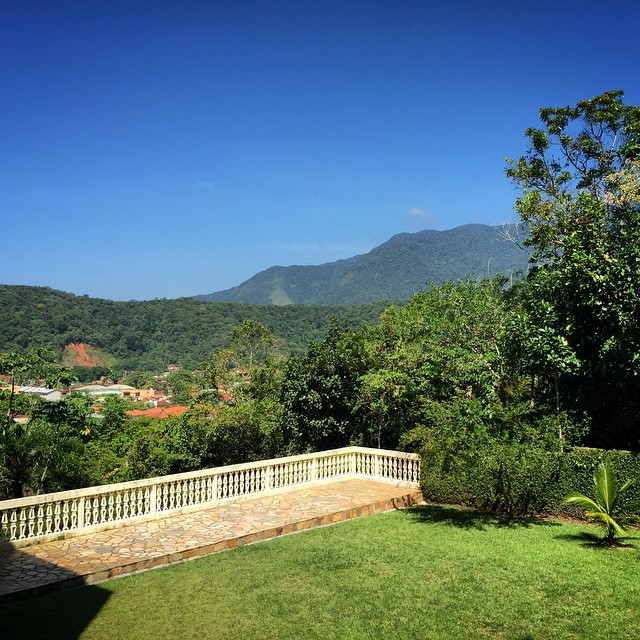 View of the Serra do Mar from the back garden.