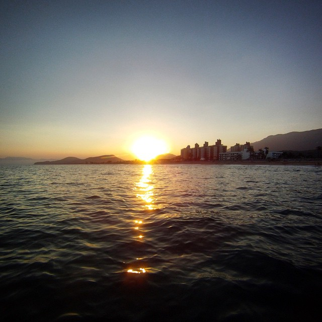 Sunset paddle tonight in Massaguaçu...