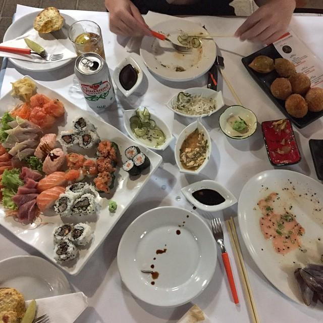 Sushi heaven at Caiçaras.