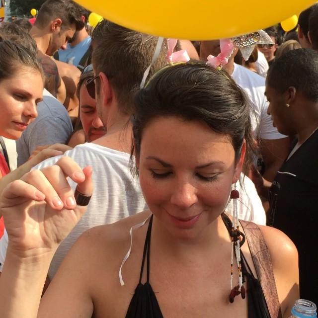 Rosie having some carnaval fun.