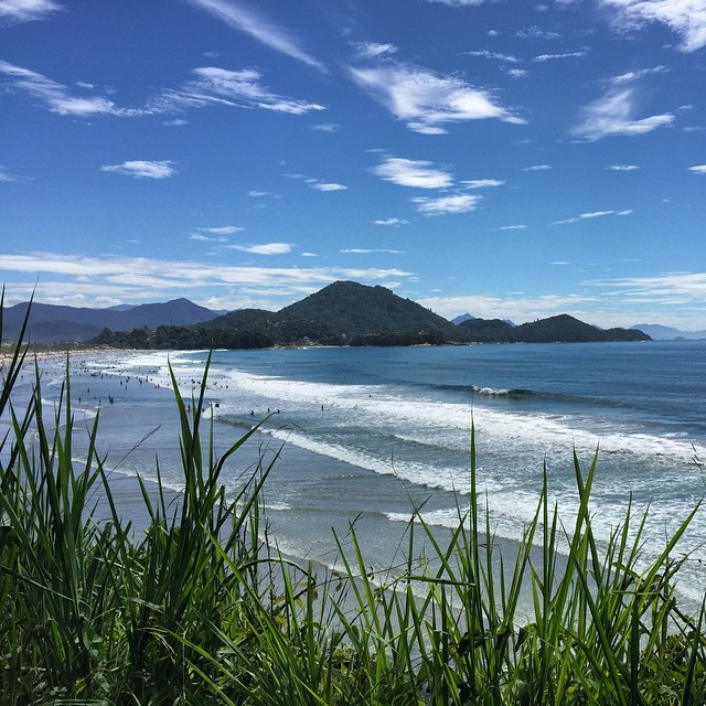 Perfect weather for (another) dip! #brazil #ubatuba #beach