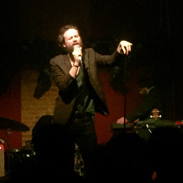 This guy's awesome! Live tonight, messy and fun times with @essexrambler #London #shoreditch #villageunderground #fatherjohnmisty