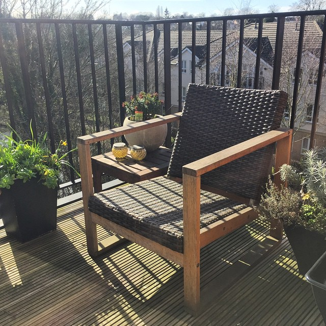 The first signs of spring on the balcony  today (I hope) #home #uk