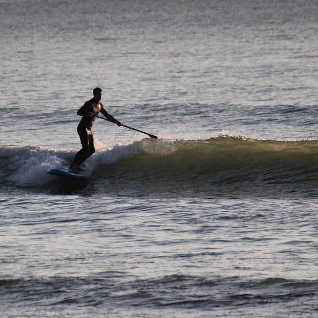Another evening cruiser. #woolacombe #devon #standuppaddle #surfing. Photo by: @essexrambler