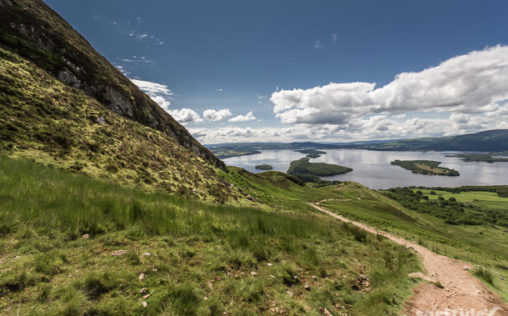 The decent from Conic Hill