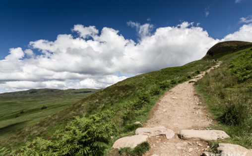 The ascent to Conic Hill