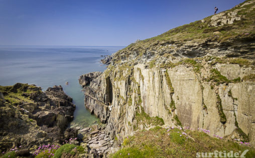 Glassy vistas at Morte Point, Devon, UK