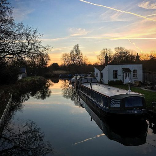 Sunset at Twyford Lock