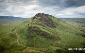 Aerial drone photo of Conic Hill Stirling, Scotland.