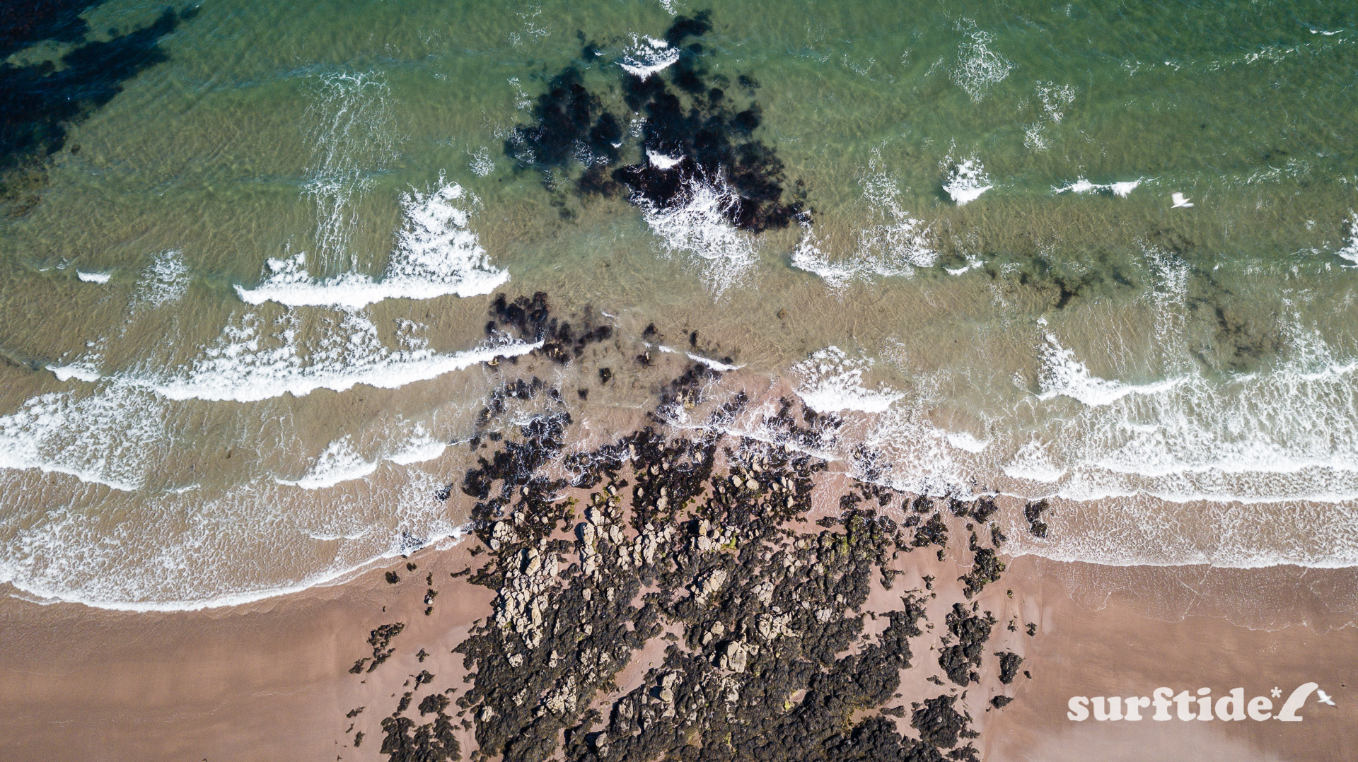 Aerial/Drone photo of Macharioch Beach, Argyll, Scotland