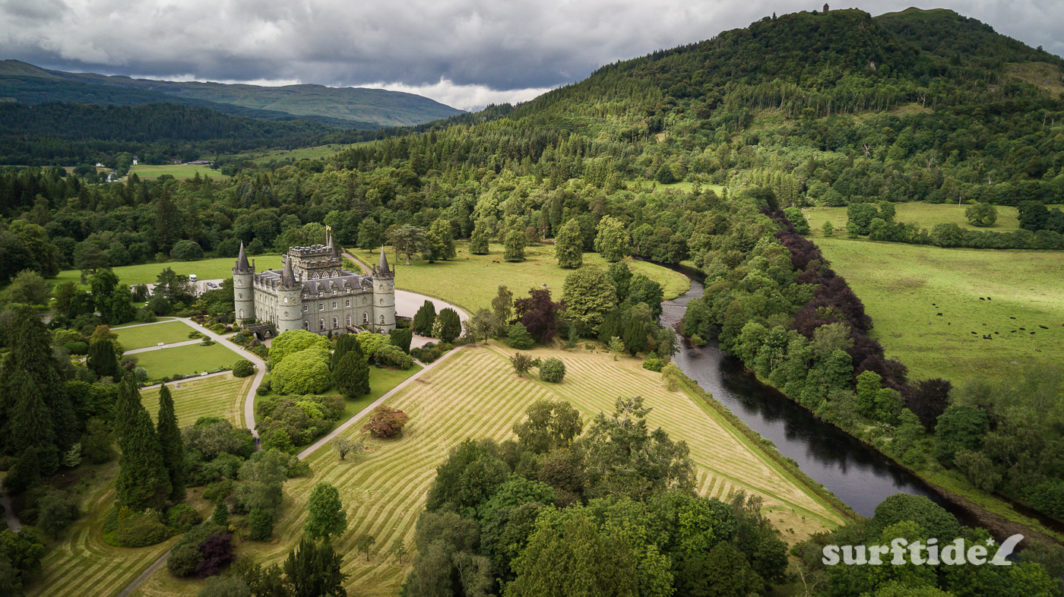 Aerial/drone photo of Inveraray Castle