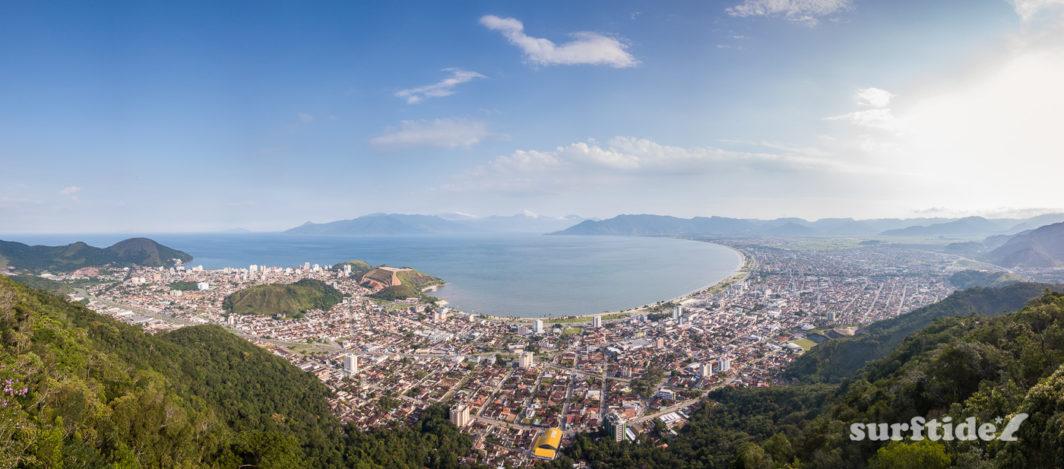 Aerial photo of coastal town of Caraguatatuba