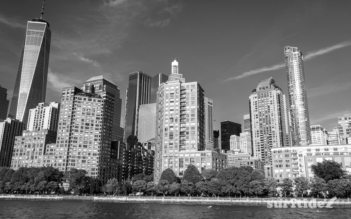 Black & White photo of Battery Park