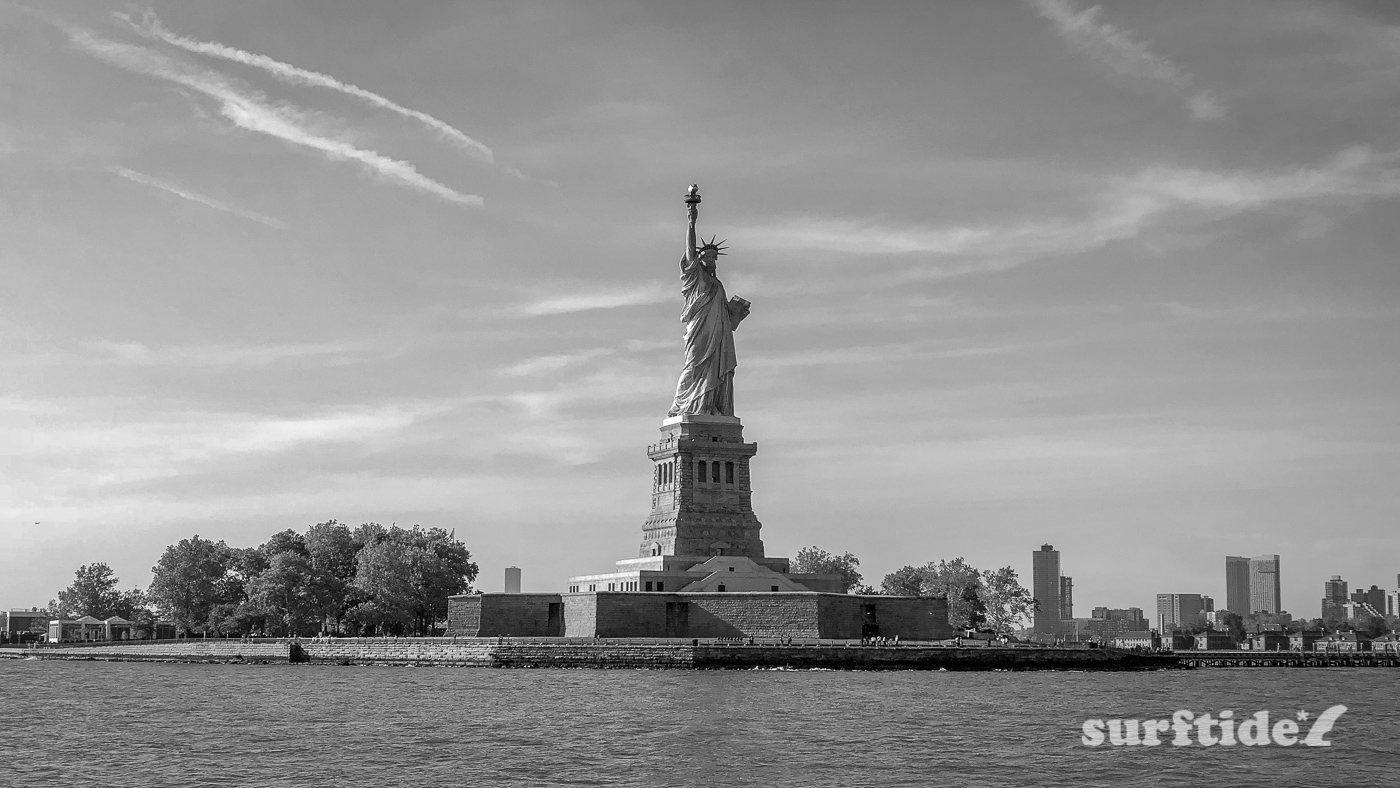Black & White photo of Statue of Liberty