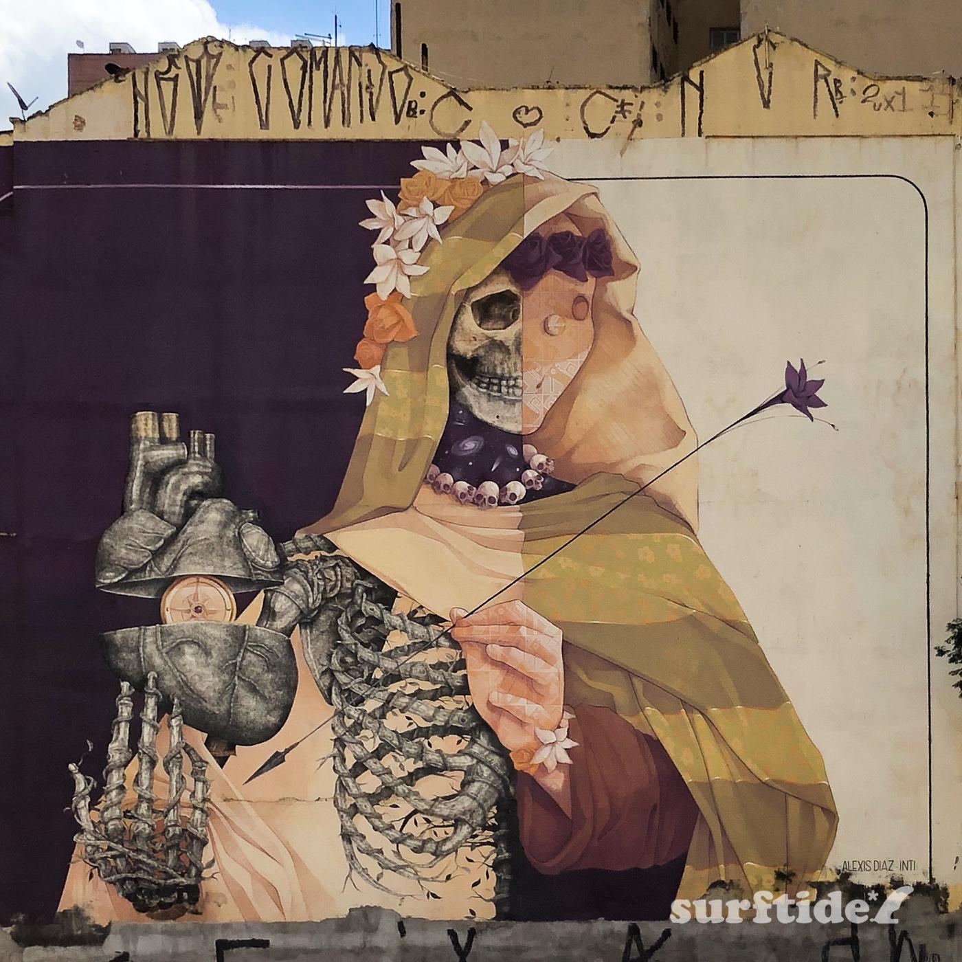 Street Art Collaboration by Alexis Diaz & INTI