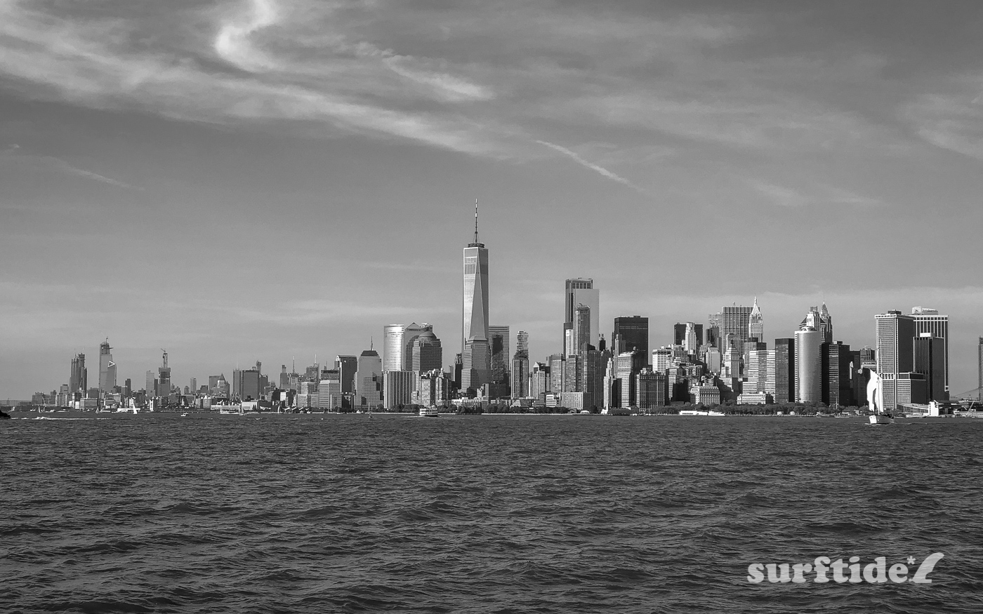 Black & White photo of Manhattan Island