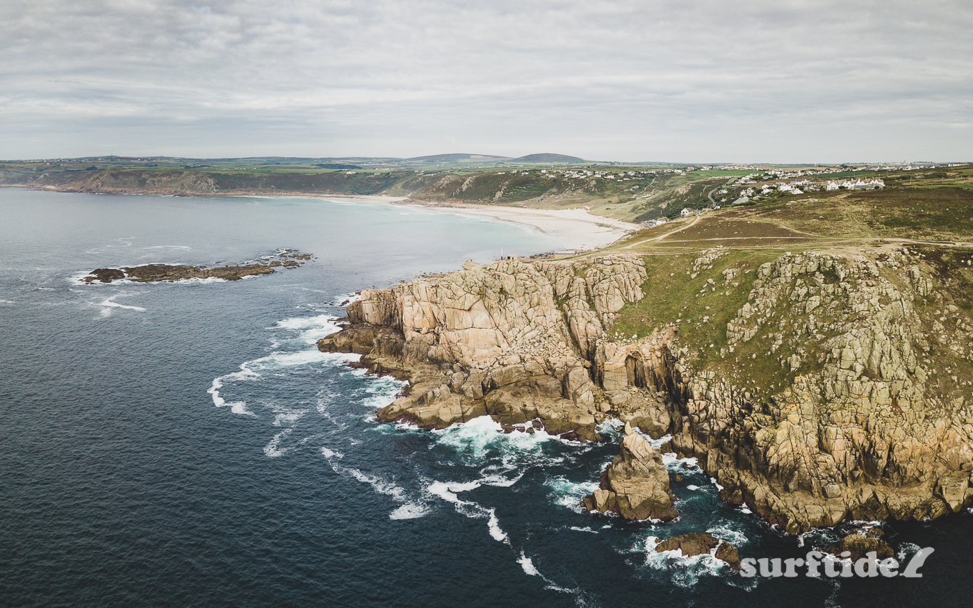 Sennen Cove Aerial View