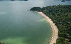 Aerial photo of the beach of Grande do Bonete
