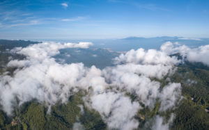 Panoramic Aerial Photo Of Litoral Norte and the Serra Do Mar, Brazil